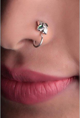 Nose Pin Buy Silver Tribal Nose Pins At Best Prices From Tjori